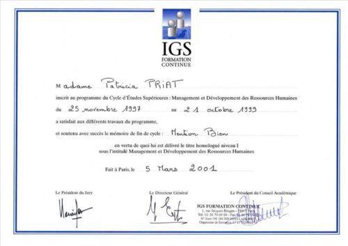 Diplôme de l'IGS
