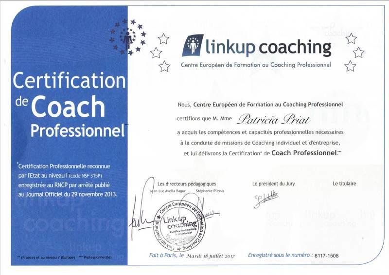 Certification Linkup coaching