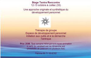 Stage Tantra Rencontre sur 2 jours à Juillac @ Ecole du Tantra - Château Laroque | Juillac | Nouvelle-Aquitaine | France