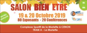 Salon Bien-être à CENON - 19 et 20 octobre 2019 @ Gymnase de la Morlette | Cenon | Nouvelle-Aquitaine | France